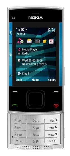 слайдер Nokia X3
